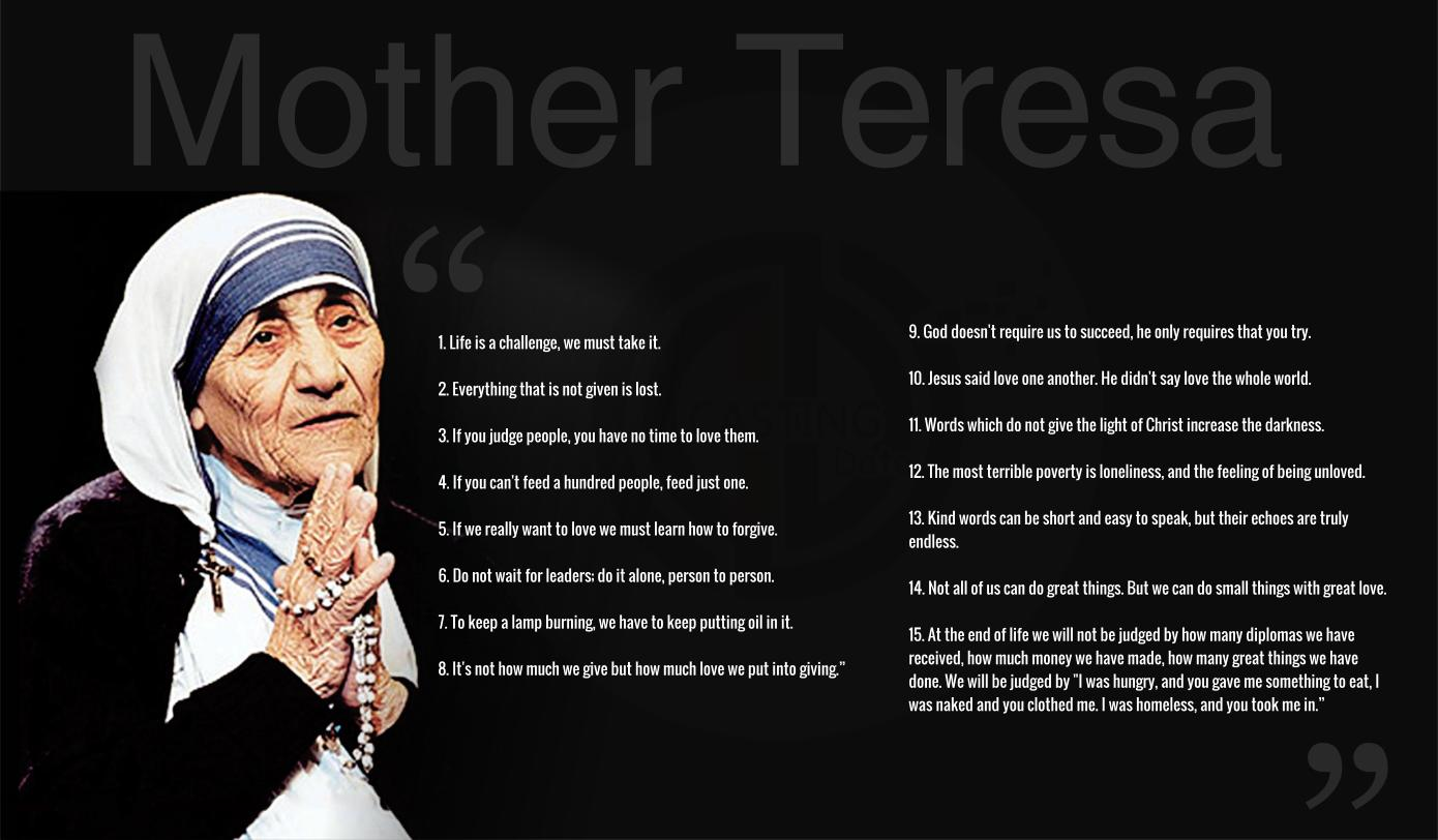 Great Famous Quotes Teresa's Inspirational And Influential Quotes