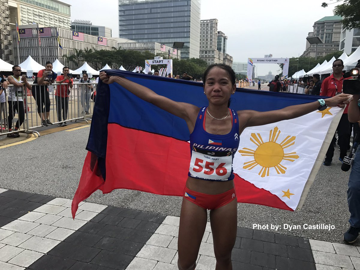 Cebuana Marathoner Mary Joy Tabal grabs 1st gold medal for the Philippines in 2017 SEA games