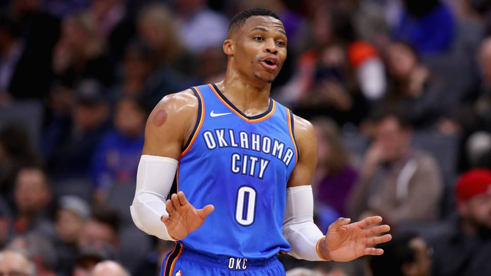 Westbrok, almost had a triple-double with 34pts 9assists and 9 rebounds. Paul George also had a good night with 38pts, 6 rebounds and 3 assists.