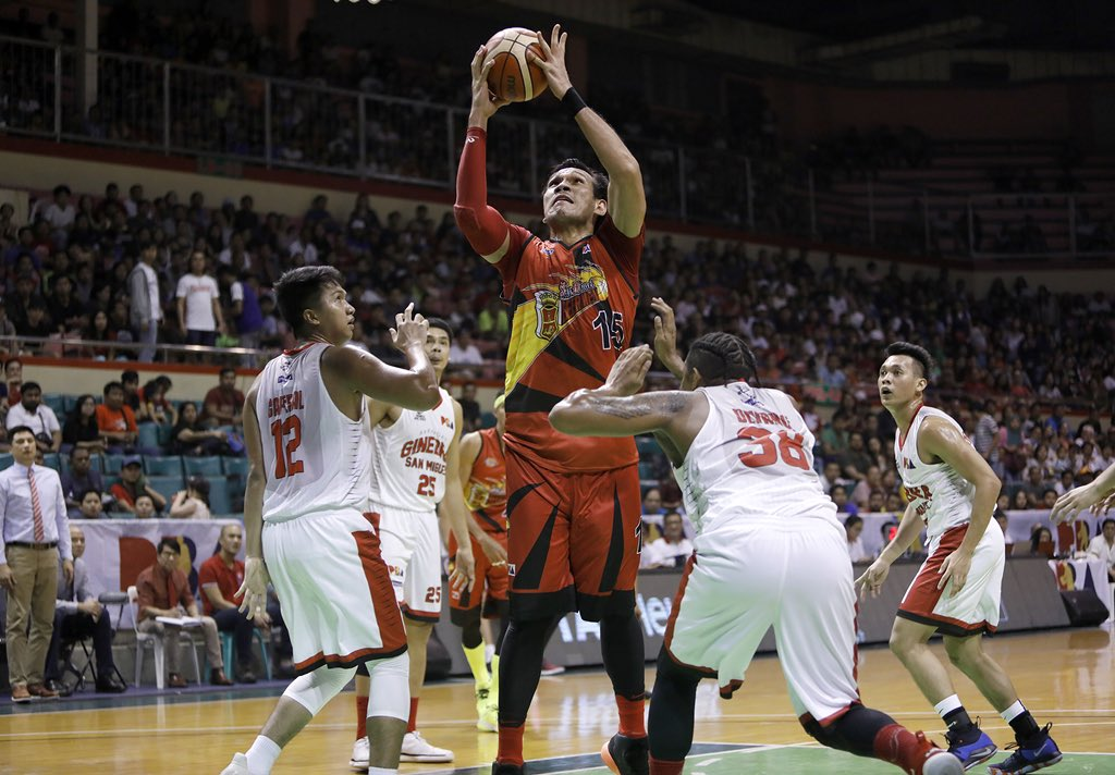 June mar Fajardo finished with 25points in game 5