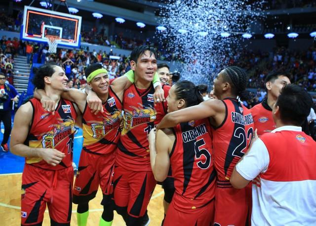 San Miguel Beermen celebrated their 4th consecutive PBA Philippine cupt titles