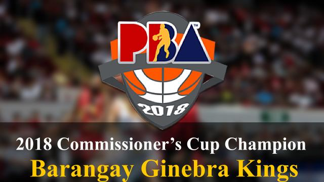 Barangay Ginebra PBA 2018 Commissioners Cup Champion