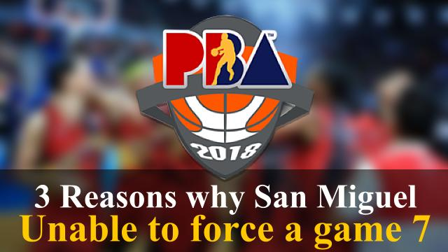 Three Reasons why San Miguel Beermen could not force a game 7