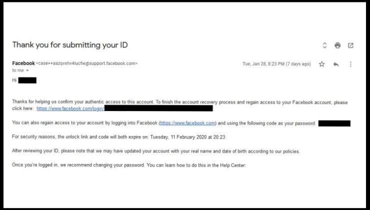 Valid Passport Id, I need to pass my Passport to reenable my Facebook Account
